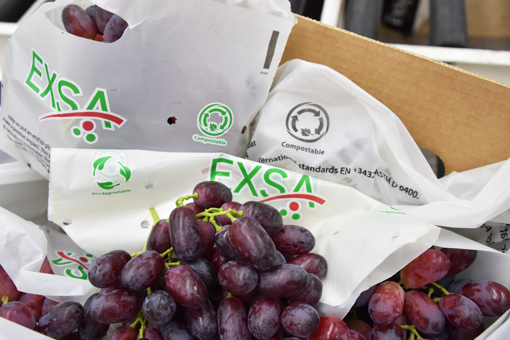 Exsa compostable grape bags and carton liners